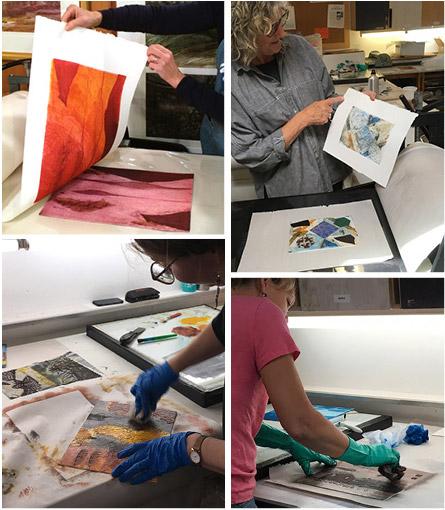 Collagraph print workshop